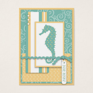 Seahorse Baby Thank You Notecard Business Card