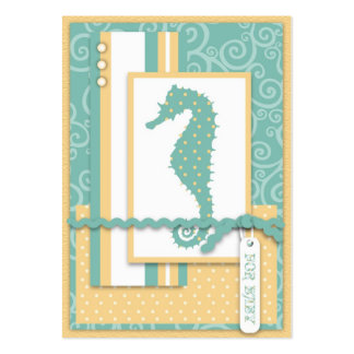 Seahorse Baby Thank You Notecard Pack Of Chubby Business Cards