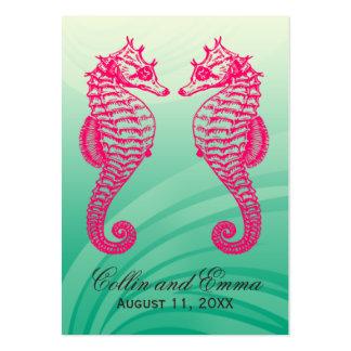 Seahorse Beach Wedding Place Cards Business Card