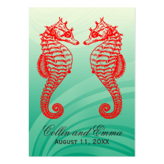 Seahorse Beach Wedding Place Cards Business Cards
