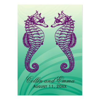 Seahorse Beach Wedding Place Cards Business Card Template