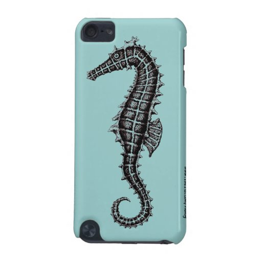 Seahorse black and white drawing art i phone case iPod touch (5th generation) covers