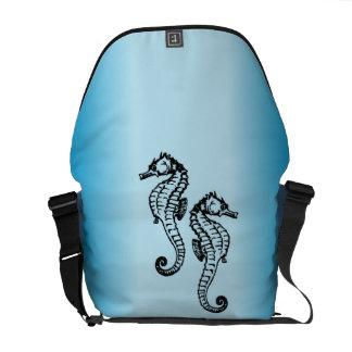 Seahorse Blue Courier Bag