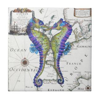 Seahorse Blue Tile