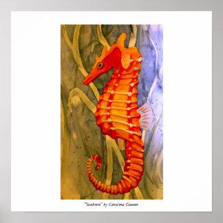 """Seahorse"" by Carolina Gunter Poster"