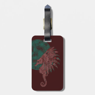 seahorse by the moon luggage tag