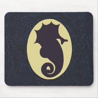 Seahorse Cameo Art Mouse Mat