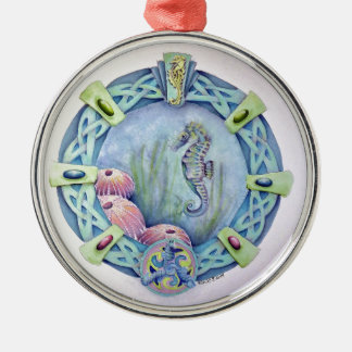 Seahorse-celtic zodiac-may 13 to june 9 christmas ornament