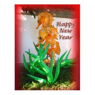 Seahorse Chinese New Year Postcard