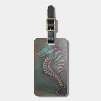 seahorse dragon luggage tag
