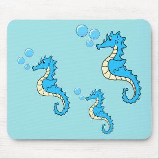Seahorse Family Mouse Mat