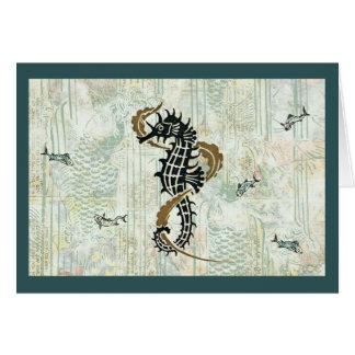 Seahorse Fish Card