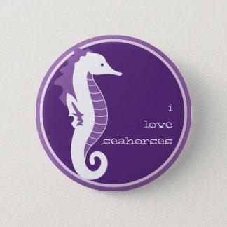 Seahorse Frolic Button - Purple