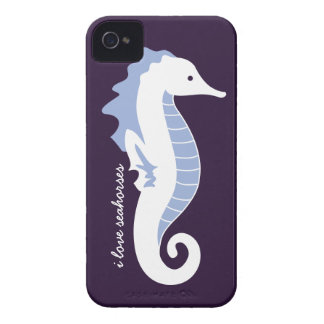 Seahorse Frolic iPhone 4/4S Barely There - Blue iPhone 4 Cover