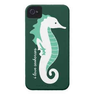 Seahorse Frolic iPhone 4/4S Barely There - Green iPhone 4 Case-Mate Cases