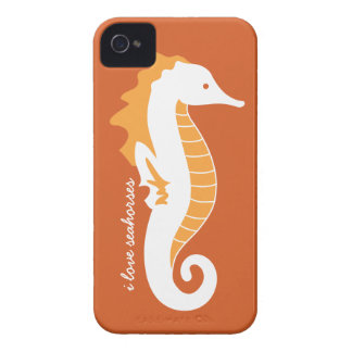 Seahorse Frolic iPhone 4/4S Barely There - Orange Case-Mate iPhone 4 Cases