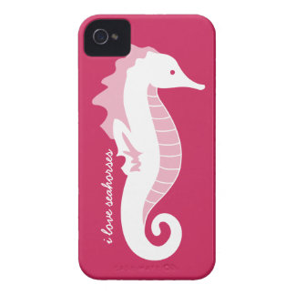 Seahorse Frolic iPhone 4/4S Barely There - Pink Case-Mate iPhone 4 Cases
