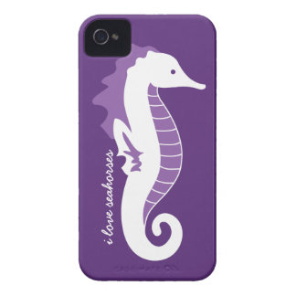Seahorse Frolic iPhone 4/4S Barely There - Purple Case-Mate iPhone 4 Cases