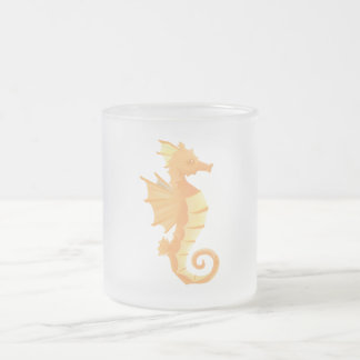 Seahorse Frosted Coffee Tea Mug 10 oz
