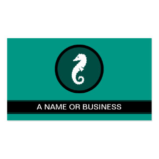 seahorse green bubble pack of standard business cards