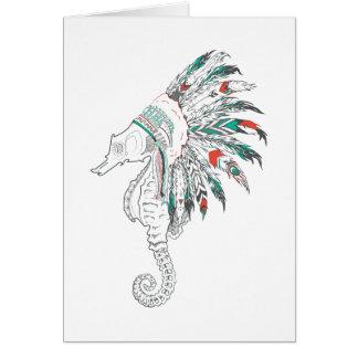 seahorse headdress card