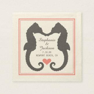 Seahorse Heart Disposable Serviettes
