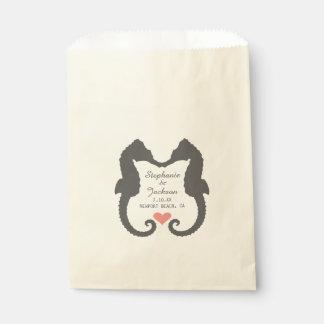 Seahorse Heart Favour Bags