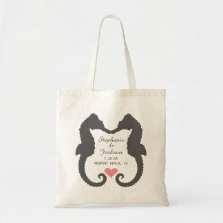 Seahorse Heart Tote Bag