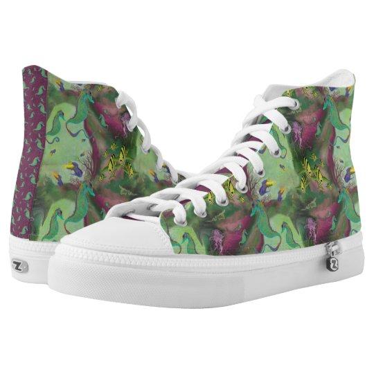 Seahorse Hi-Top Tennis Shoes   Zazzle.co.uk
