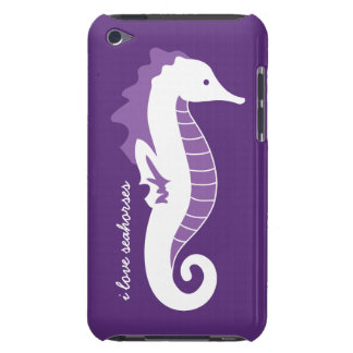 Seahorse iPod Touch CaseMate Barely There - Purple Barely There iPod Covers