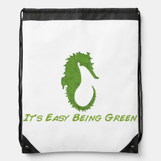 Seahorse It's Easy Drawstring Backpack