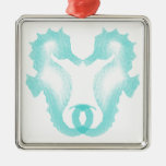 Seahorse Kiss Christmas Tree Ornaments