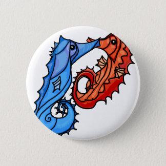 Seahorse kisses 6 cm round badge