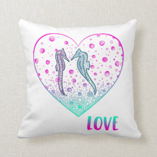 Seahorse Love Cushion - Gift for Her