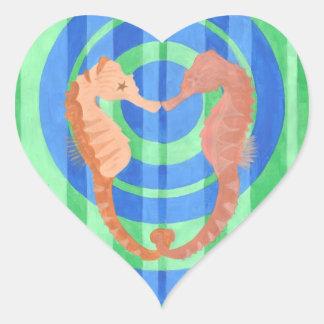 Seahorse Love Heart Sticker