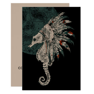 seahorse native night card