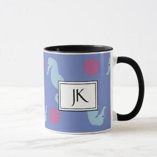 Seahorse Oceanic Textile Coffee Mug