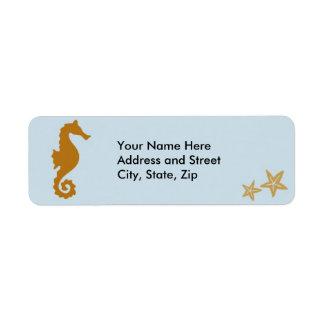 Seahorse on blue