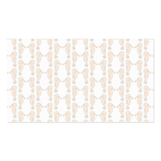 Seahorse pattern in cream color. business card template