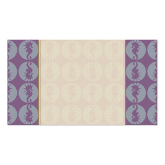 Seahorse Pattern in Gray and Purple Pack Of Standard Business Cards