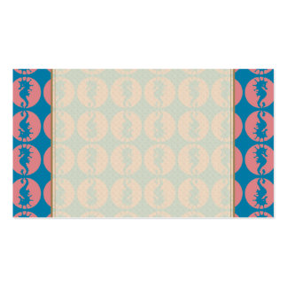 Seahorse Pattern in Melon and Dark Teal Pack Of Standard Business Cards