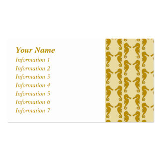Seahorse Pattern in Tan and Brown. Pack Of Standard Business Cards