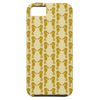 Seahorse Pattern in Tan and Brown. Tough iPhone 5 Case