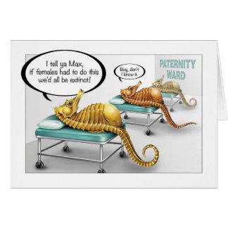 Seahorse pregnancy card
