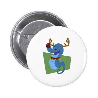 Seahorse Reindeer 6 Cm Round Badge