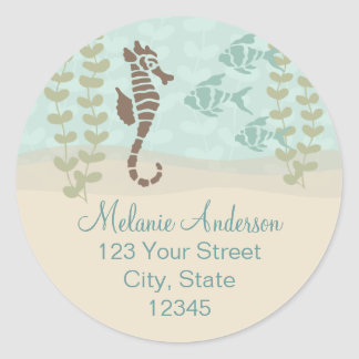 Seahorse Return Address Envelope Seal