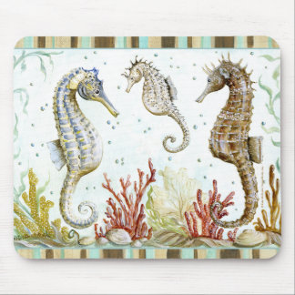 Seahorse Sanctuary by Kate McRostie Mouse Mat