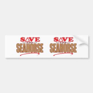 Seahorse Save Bumper Sticker