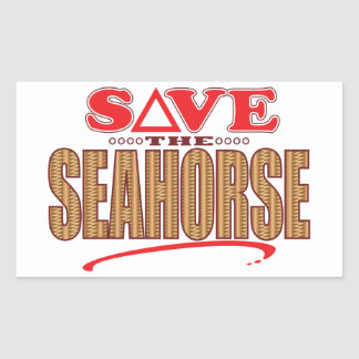 Seahorse Save Rectangular Sticker