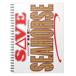Seahorse Save Spiral Notebook